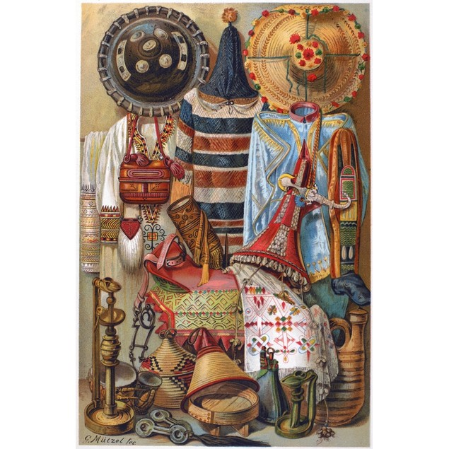 Burmese & Tibetan Art. /Nclothing And Material Items From Burma And Tibet.
