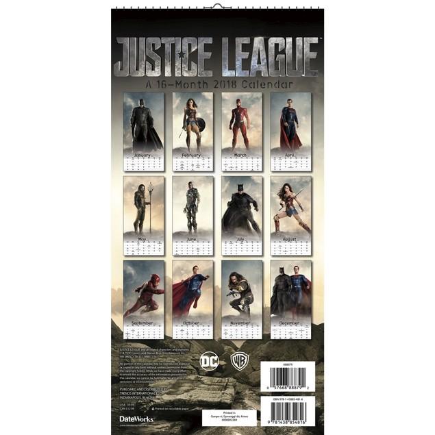 Justice League Wall Calendar, Entertainment by Trends International
