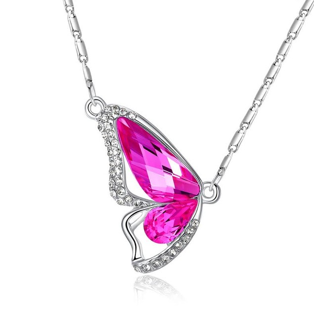 Side Butterfly Necklace