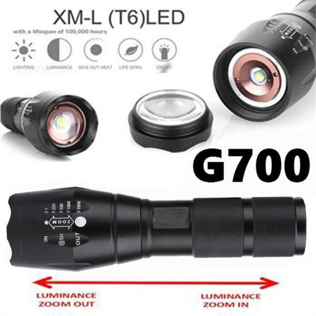 G700 Tactical Flashlight LED Military Lumitact Alonefire