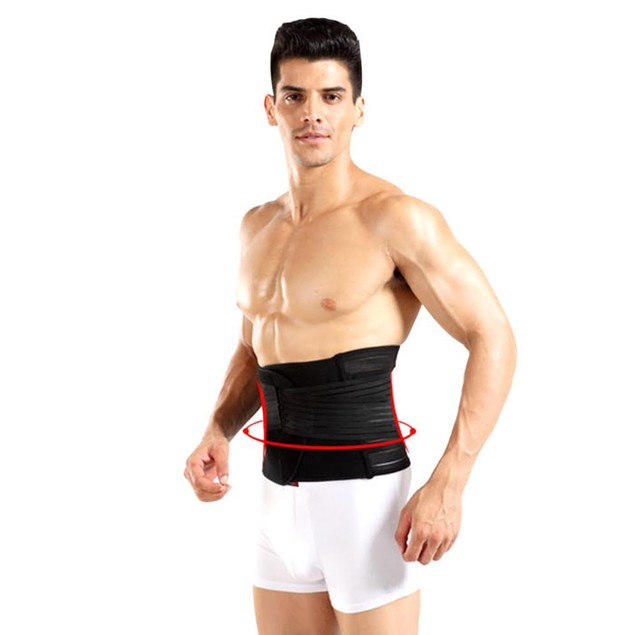 Mens Adjustable Double-Compression Waist-Slimming Belt