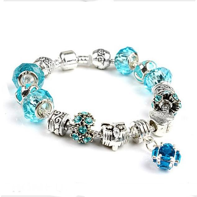 Stunning Crystal Charm Bracelet-6 Colors