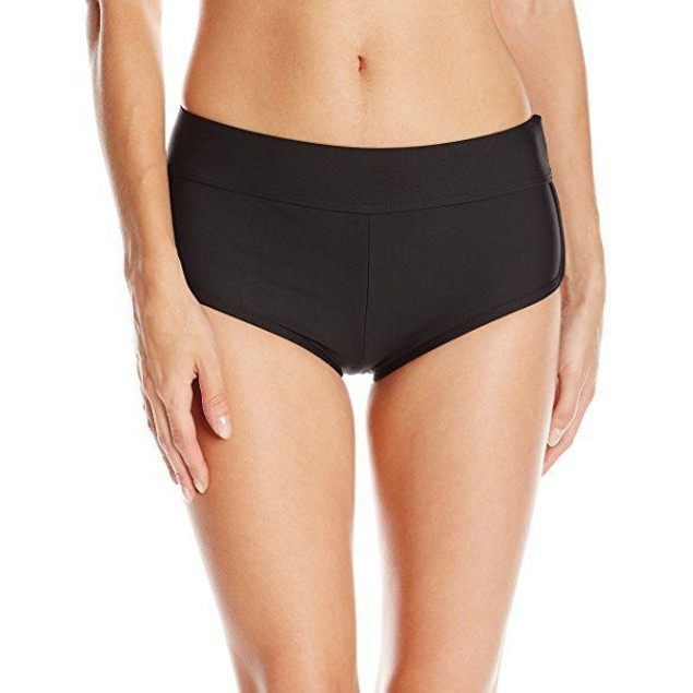 Next Women's Go Girl Solid Banded Bikini Boardshort, Black, SZ: Small