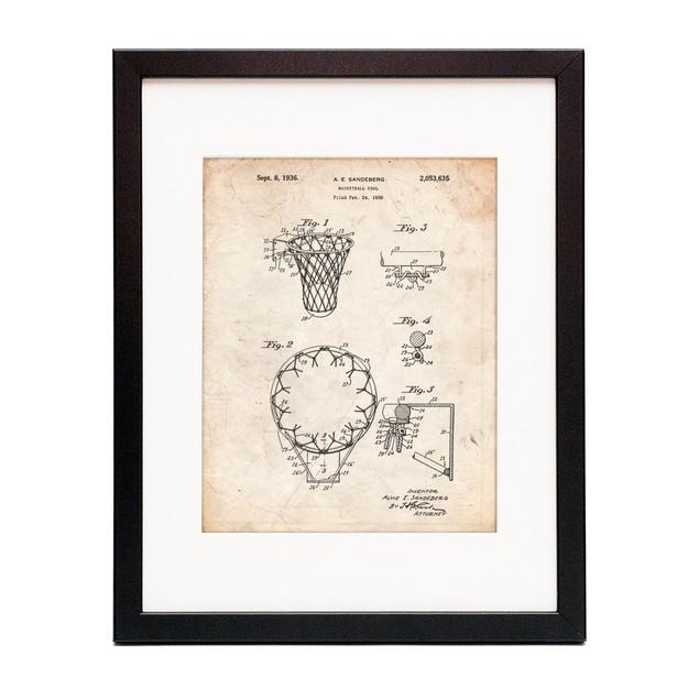 Vintage Basketball Hoop Patent Poster