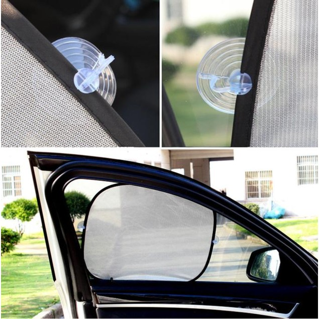 5 Pcs Car Window Suction Cup Sun Visor Shade Curtain Mesh Sunshade Covers