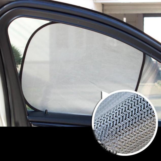 5 Pcs Car Window Suction Cup Sun Visor Shade Curtain Mesh Sunshade Covers