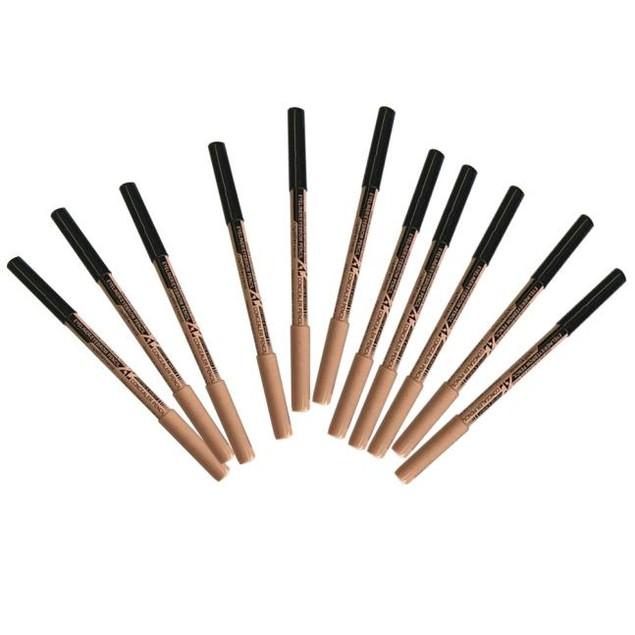 12pc Multifunctional Black Eyeliner Eyebrow Pencil + Concealer Pencil