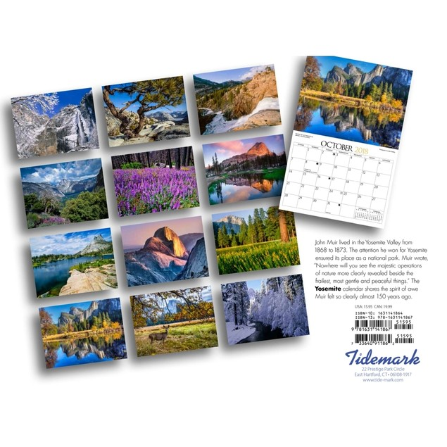 Yosemite Wall Calendar, National Parks by Tide-Mark