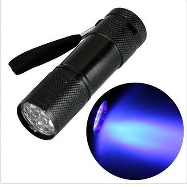 Mini UV 9 LED Flashlight