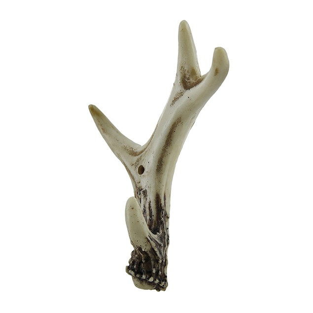 2 Piece Faux Natural Deer Antler Wall Hook Set Decorative Wall Hooks