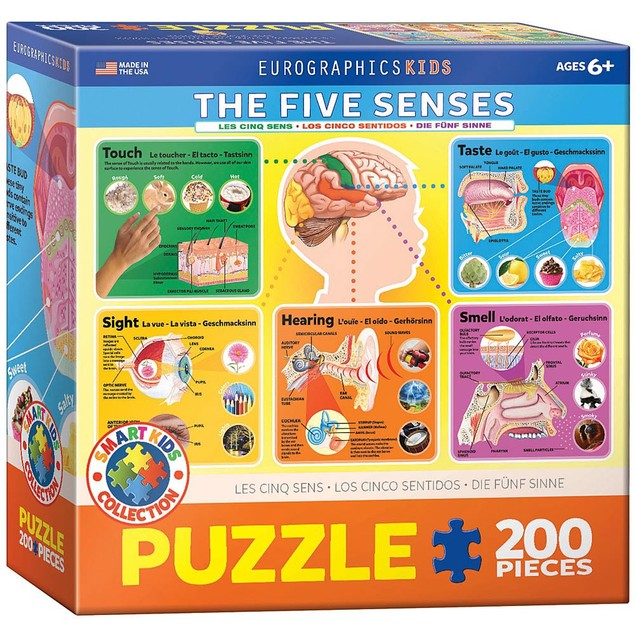 The Five Senses 200 Piece Puzzle, More Puzzles by Eurographics