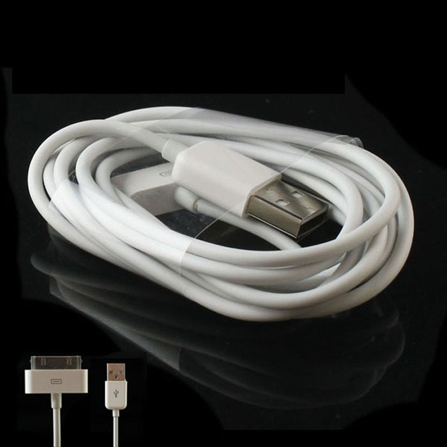 2M USB Sync Charger Cable For Apple iphone 4 4S 3G 3GS ipad Ipod