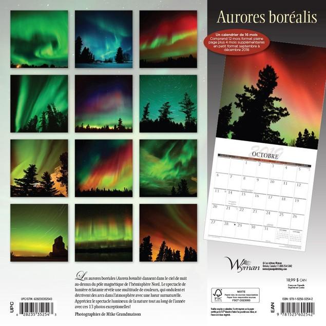Aurores Boreales Wall Calendar, Nature by Calendars