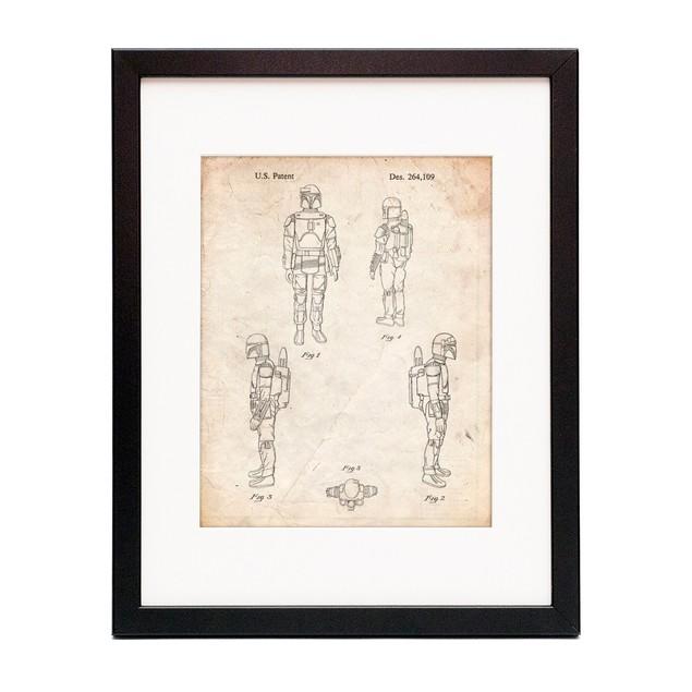 Star Wars Boba Fett 4 Image Patent Poster