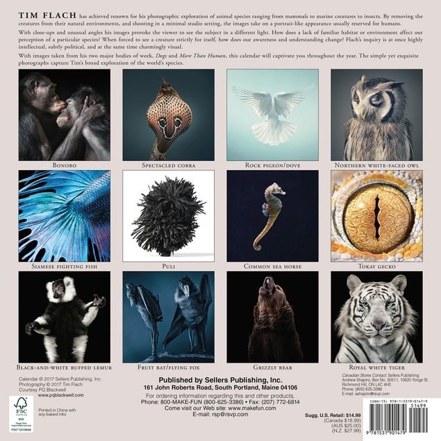 Tim Flach More Than Human Wall Calendar, Wildlife by Sellers Publishing