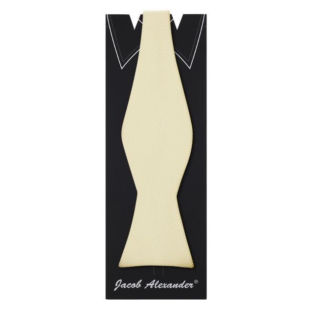 Jacob Alexander Men's Tone on Tone Corded Self-Tie Bow Tie