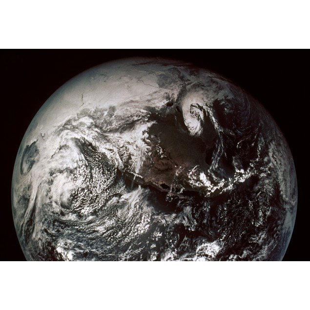 Apollo 16: Earth. /Napollo 16: Earth From Command Module With North America