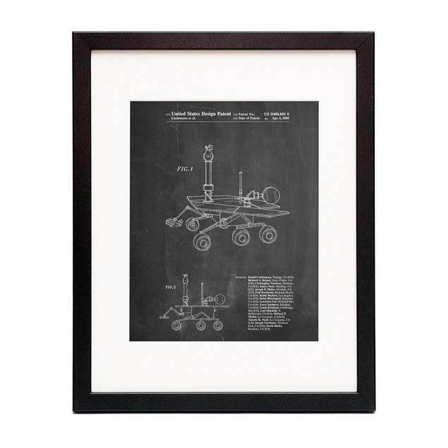 Mars Rover Patent Poster
