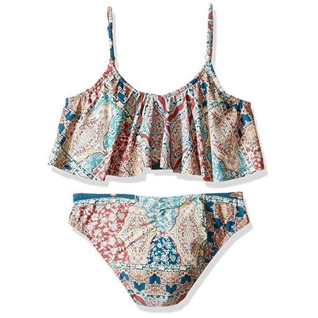 O'Neill Little Girls' Parker Ruffle Top Two Piece Swimsuit SZ: 4