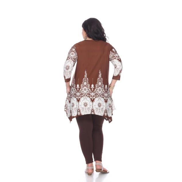 White Mark Universal Plus Size Dulce Tunic Top - 5 Prints