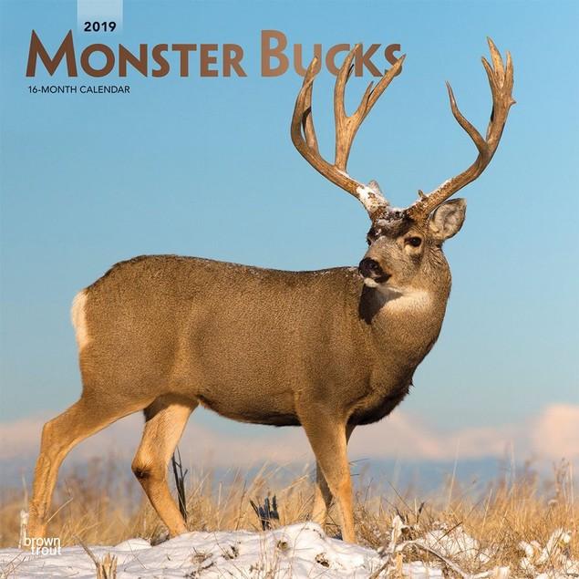 Monster Bucks Wall Calendar, Deer by Calendars