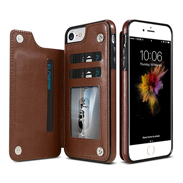 Slim Fit Leather Wallet Case for iPhone 6,7,8, X, Xs, Xs Max and Xr