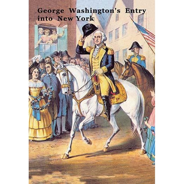 George Washington enters New York City 25 November, 1783 after the evacuati