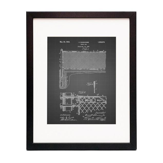 Tennis Net Patent Poster