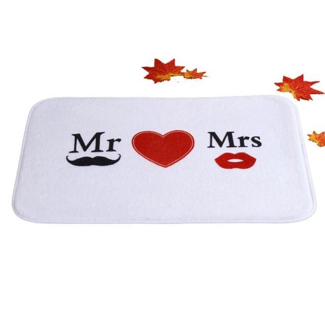 Mr. & Mrs. Indoor Door Mat/Bath Mat