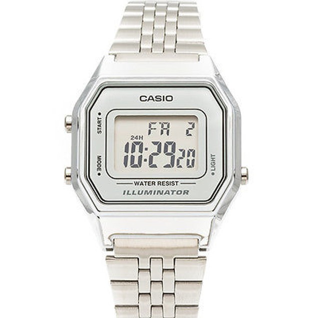 Casio Women's Silver Tone Digital Quartz Illuminator Watch