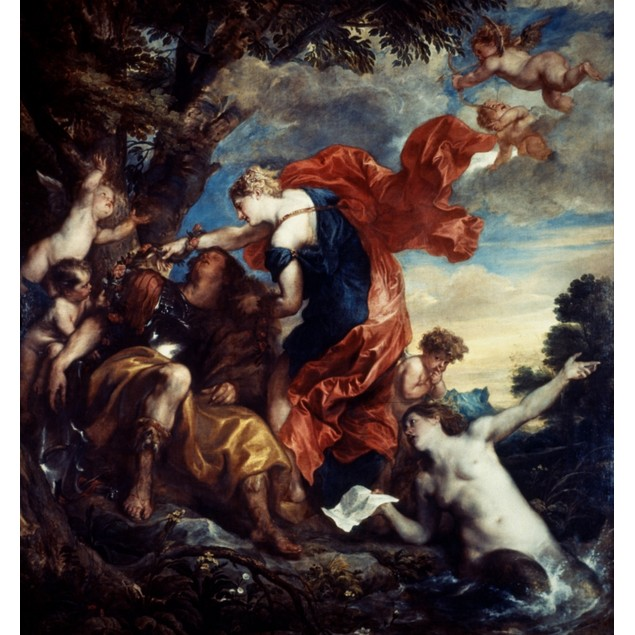 Rinaldo And Armida. /Noil On Canvas, 1629, By Anthony Van Dyck. Poster
