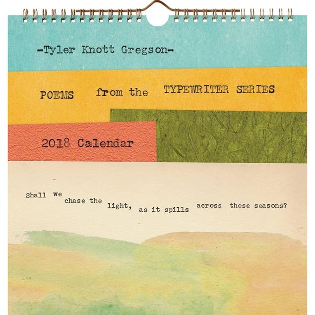 Tyler Knott Gregson Typewriter Wall Calendar, More Inspiration by Abrams
