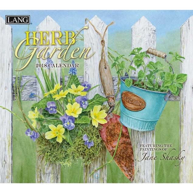 Herb Garden Wall Calendar, Lang Folk Art by Calendars
