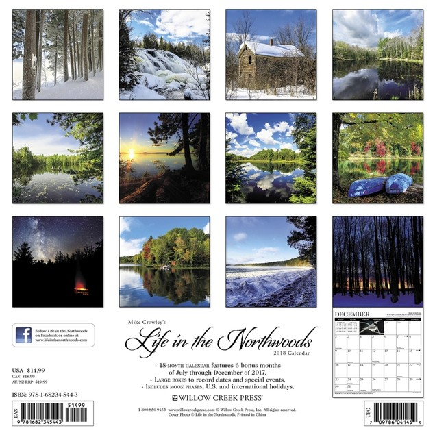 Life in the Northwoods Wall Calendar, Nature by Calendars