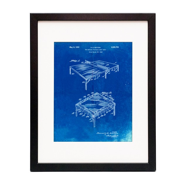 Ping Pong Table Patent Poster