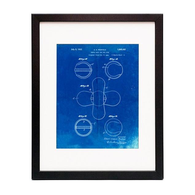 Tennis Ball 1932 Patent Poster