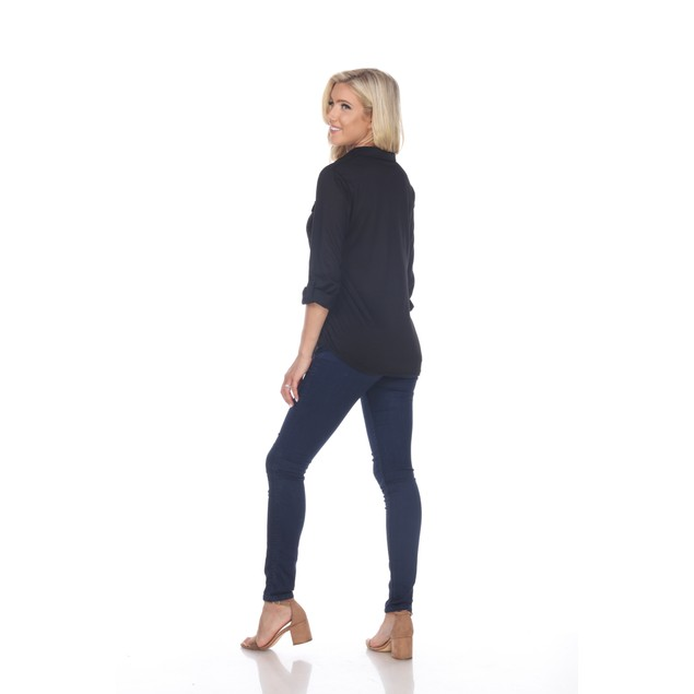 Skylar Stretchy Button-Down Top - 5 Colors