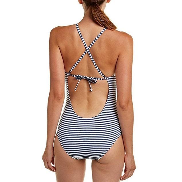 Splendid Women's Removable Soft Cup One-Piece Blue Swimsuit SZ: XS