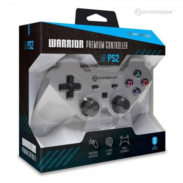 """PS2 """"Warrior"""" Premium Controller (Silver) - Hyperkin"""