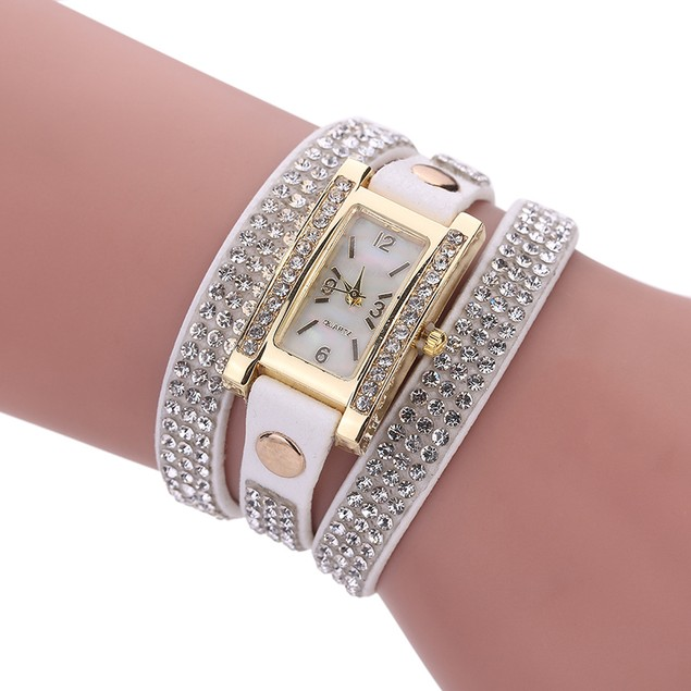 Luxury Crystal Quartz Bracelet Wristwatch - 8 Colors
