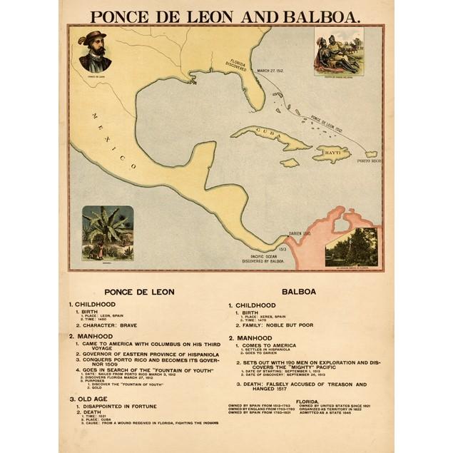 Ponce de Leon & Balboa Poster