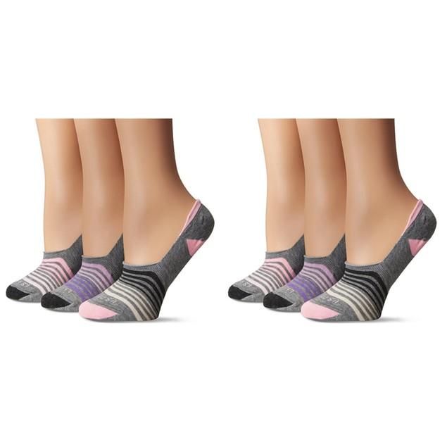 6 Pairs U.S. Polo Assn. Womens Liner Socks