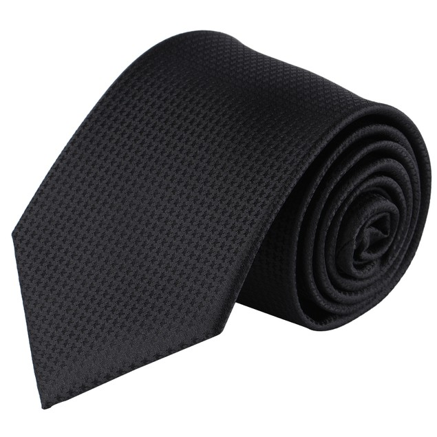 Jacob Alexander Men's Tone on Tone Houndstooth Extra Long Neck Tie