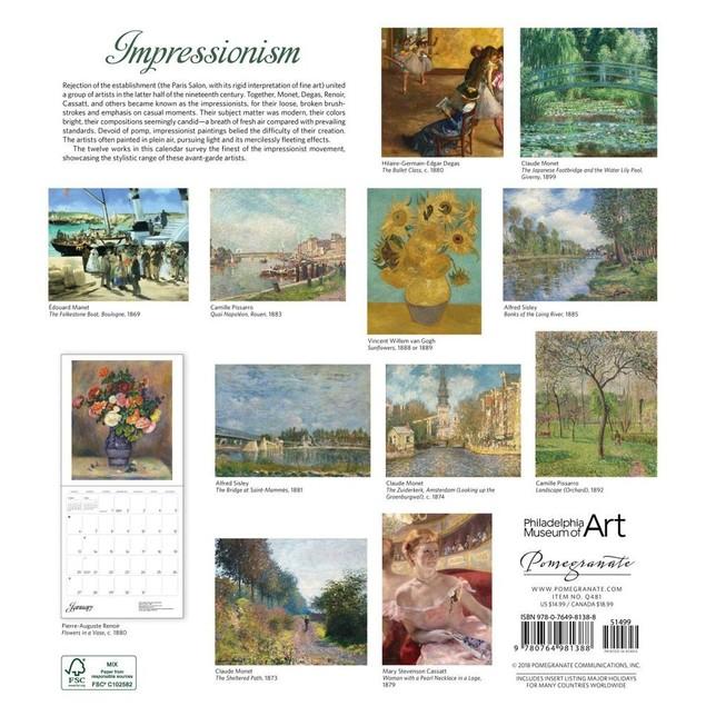 Intimate Impressionism Wall Calendar, Fine Art by Calendars