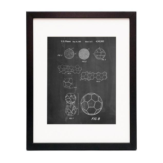 Soccer Ball 1985 Patent Poster