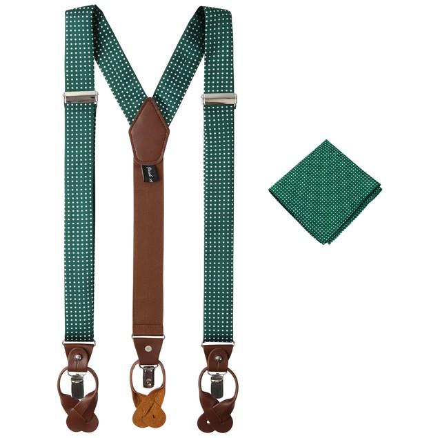 Jacob Alexander Matching Polka Dot Suspenders and Handkerchief