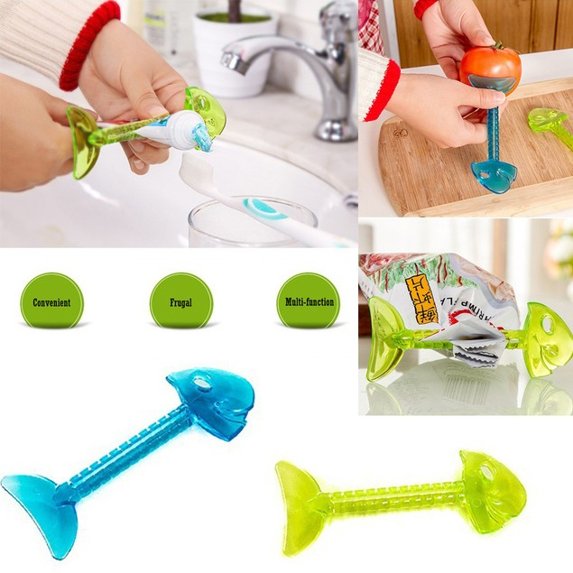 Multi-function Home Tube Rolling Holder Squeezer Easy Toothpaste Dispenser