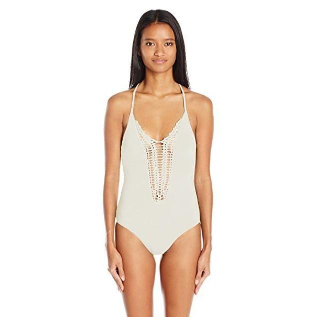 Billabong Women's Hippie Hooray One Piece Swimsuit, Seashell, SZ LARGE