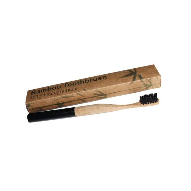2-Pack Charcoal Bamboo Toothbrushes