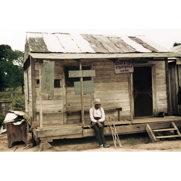 Louisiana: Store, 1940. /Na Store With Live Fish For Sale, Near Natchitoche